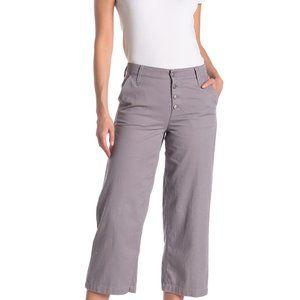 J.crew BNWT wide leg twill crop pants sz 10 button